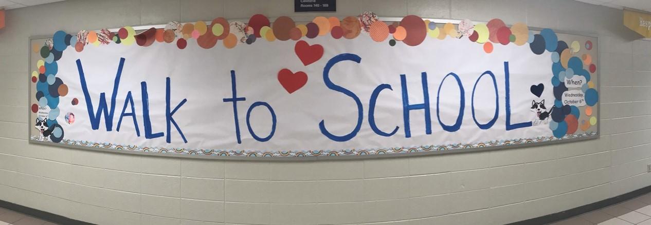Harrison Street School Walk to School Sign