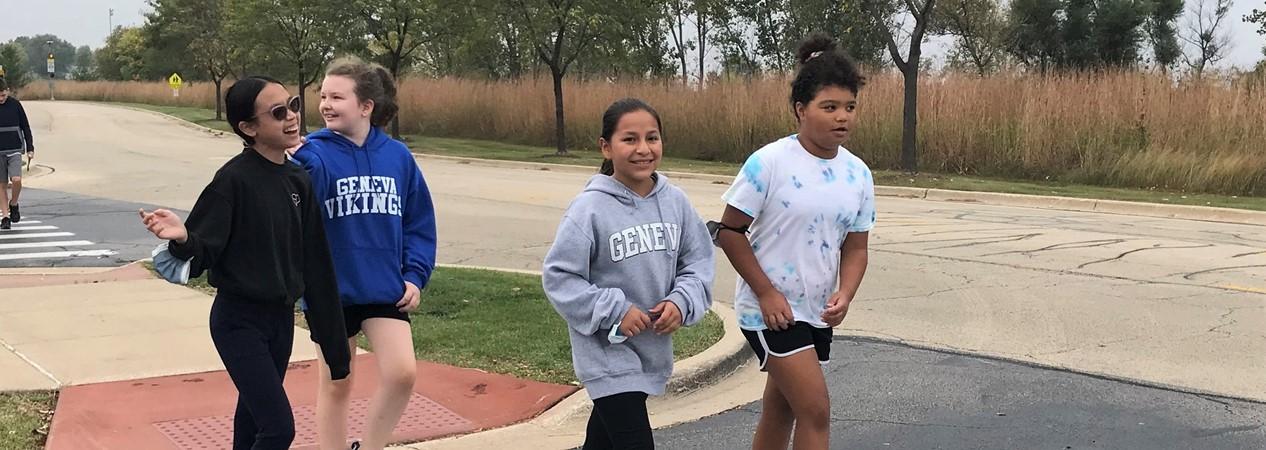 GMSS Students Walk Around Campus