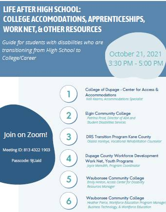 Virtual Life After High School Zoom for students with disabilities who are transitioning from high s
