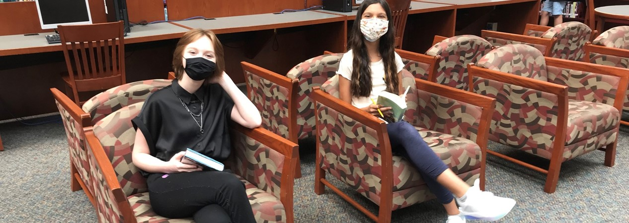 GMSN Students Reading in Library