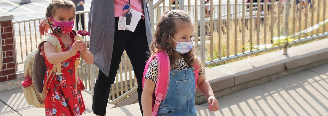 GELP Students Walking Into School