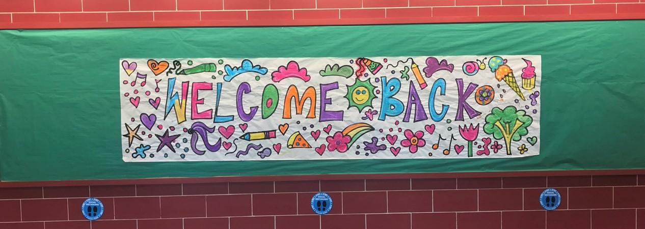 Hallway Sign Welcome Back